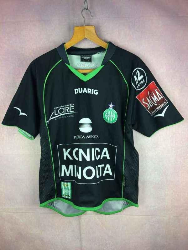 Maillot SAINT ETIENNE, Saison 2004 2005, Version Away, Marque Duarig, Technologie Duaclim, ASSE Vert Loire France Ligue 1