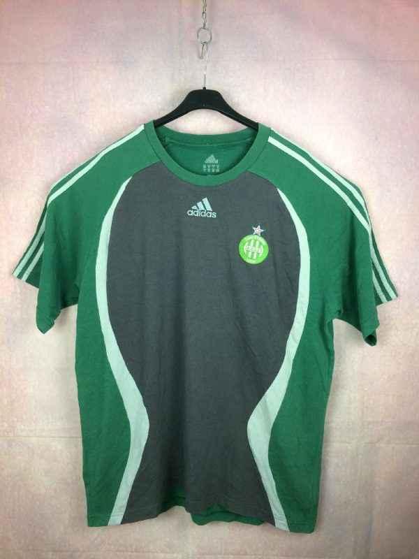 T Shirt SAINT ETIENNE, Saison 2006 - 2007, Marque Adidas daté du 05/06, Logo ASSE brodé, Vert Loire France Ligue 1