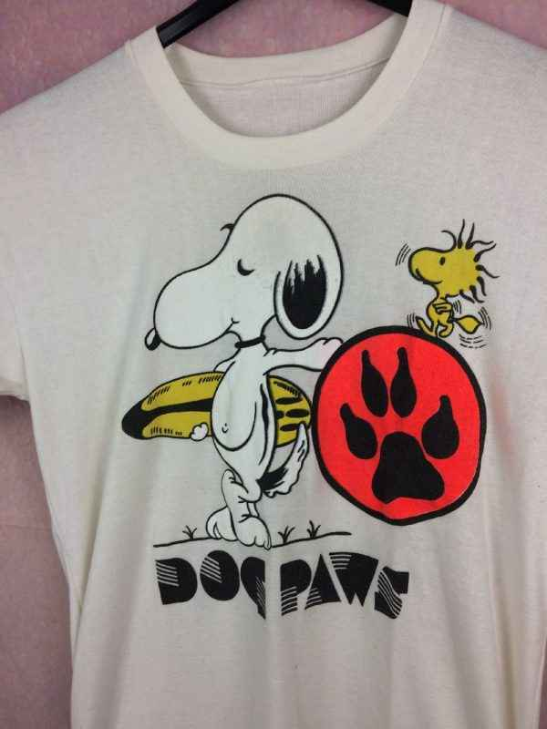 SNOOPY T Shirt Dog Paws Vintage Annees 80s Peanuts Surf.. 3 - SNOOPY T Shirt Dog Paws Vintage Années 80s Peanuts Surf Woodstock