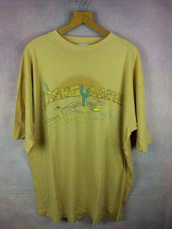 T Shirt DISNEYLAND Paris, Official licence Disney, Pur coton, Parc à thèmes Euro France Canyon Desert Cactus Cowboys