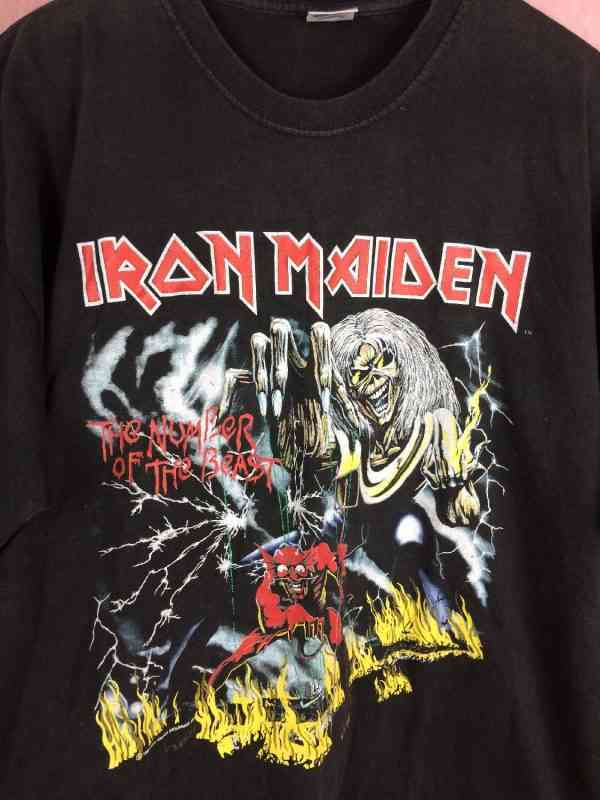 T Shirt IRON MAIDEN The Number Of The Beast Vintage 1982.. 3 - T-Shirt IRON MAIDEN The Number Of The Beast Vintage 1982 Licence Officielle 666