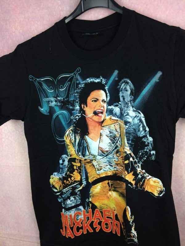 T Shirt MICHAEL JACKSON Official License Annee 2008 2010 Concert History King Of Pop 3 - MICHAEL JACKSON Remembering T Shirt King Of Pop Paillettes
