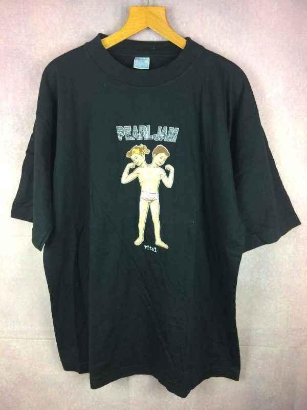 T-ShirtPEARL JAM, éditionVital Circulation Tour 1995, Véritable Vintage années 90s, Licence Officielle, Pur coton, Grunge Rock Metal JAMAIS PORTE