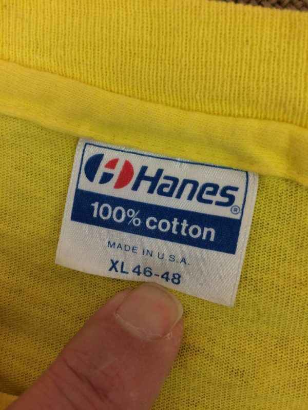 TENNIS T Shirt Vintage Annees 80s Hanes Made in USA .. 1 - TENNIS T Shirt Vintage Années 80s Hanes Made in USA