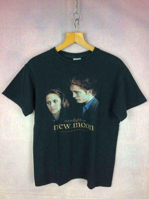 T-Shirt THE TWILIGHT SAGA, Modèle New Moon, Année 2009, Licence Officielle, véritable vintage années 00s, Pur coton, Vampire TV Black Bella