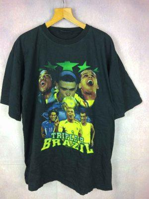 TRIPLE-R Brazil T-Shirt Ronaldo Rivaldo Ronaldinho...