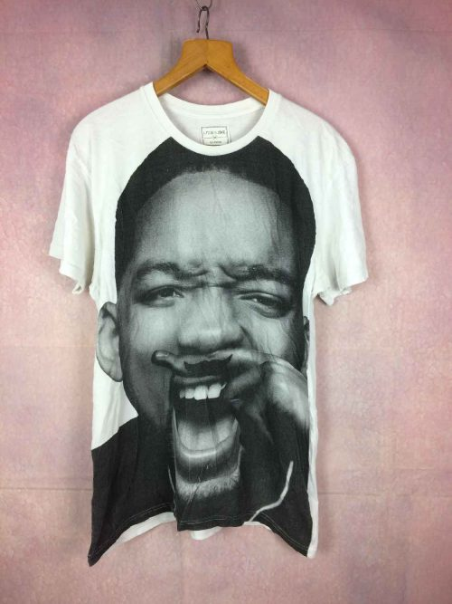 T-Shirt WILL SMITH, marque Eleven Paris, Impression au dos, Pur coton, Overprint impression grand format, Hip Hop Cinéma Star