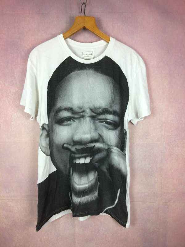 T-Shirt WILL SMITH, marque Eleven Paris, Impression au dos, Pur coton, Overprint impression grand format, Hip Hop Cinéma Star