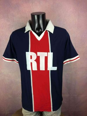 Maillot PSG, Saison 1981 1982, Version Home, Licence Officielle Paris Saint Germain, Année 2013, Sponsor RTL en feutrine, Ligue 1 Jersey Camiseta Football