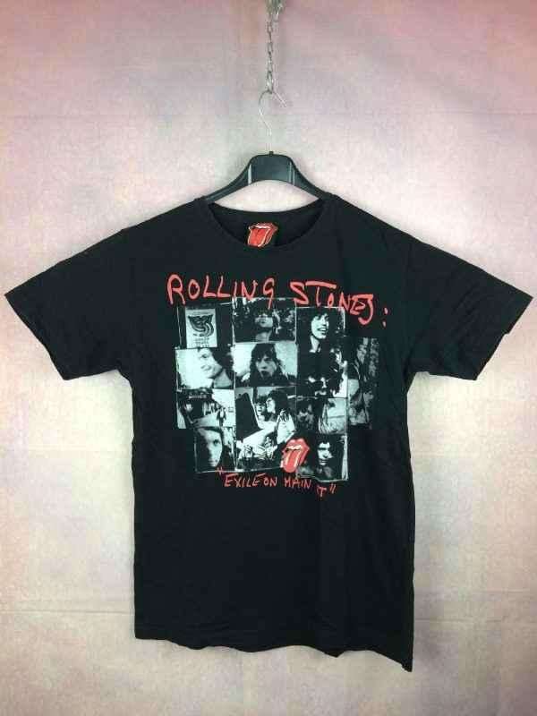 T-Shirt ROLLING STONES, édition Exile on Main St, Official License, marque Rolling Stones, Album Concert Rock