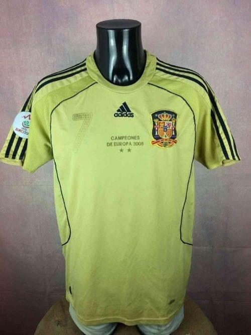 18. Maillot Espagne 2008 - 2010 Away Floqué David Villa N°7 Adidas
