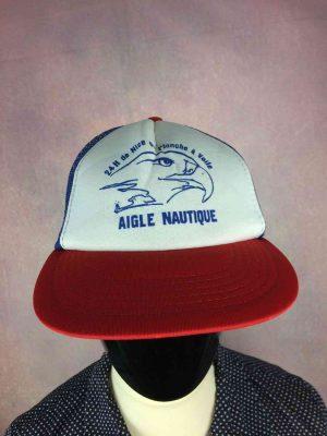 Casquette 24h de Nice en Planche à Voile, Aigle Nautique, Véritable vintage années 80s, marque Am Cap Yupoong, Made in Korea, Neuf Jamais portée, Cap Hat Snapback