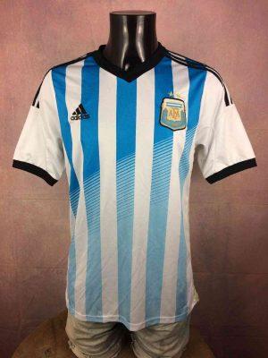 Argentine Maillot, saison2013 - 2014, Version Home, Replica, Taille M, Couleur Blanc - Bleu, AFA World Cup Football Homme
