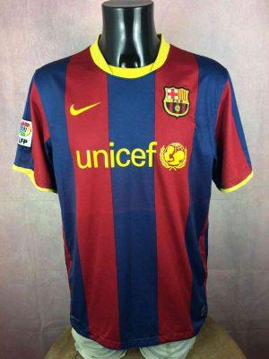 Barcelona FC Maillot, saison 2010 - 2011, Version Home, Marque Nike, Taille L, Couleur Rouge - Bleu, FCB Liga Football Homme
