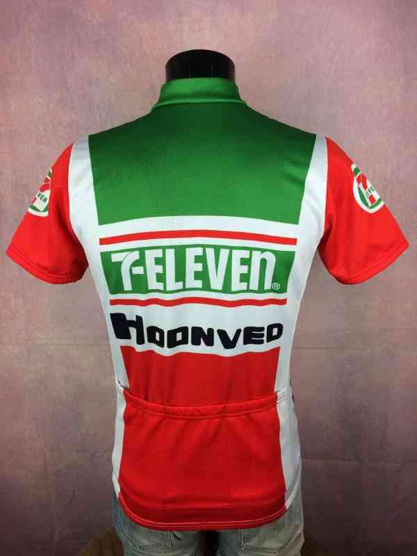 7 Eleven Hoonved American Airlines Team Maillot Eddy.. 2 - 7 Eleven Hoonved American Airlines Team Maillot Eddy Merckx Wolber 1989 Vintage Années 80s Cyclisme