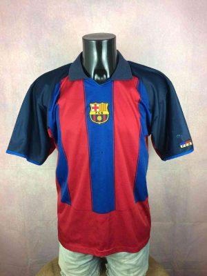 Barcelona FC Maillot, saison 2003 - 2004, VersionHome, MarqueRogers,FCB Product Official, Taille L, Couleur Rouge - Bleu, FCB Liga Football Homme