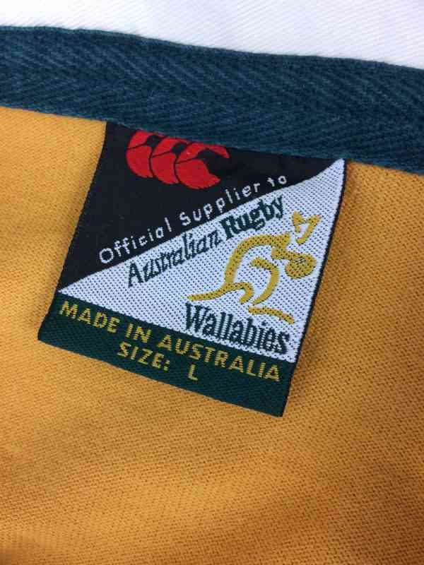 AUSTRALIA Maillot World Cup 2003 Home Canterbury Manches.. 1 - AUSTRALIA Maillot World Cup 2003 Home Canterbury Manches Longues Wallabies XV Rugby