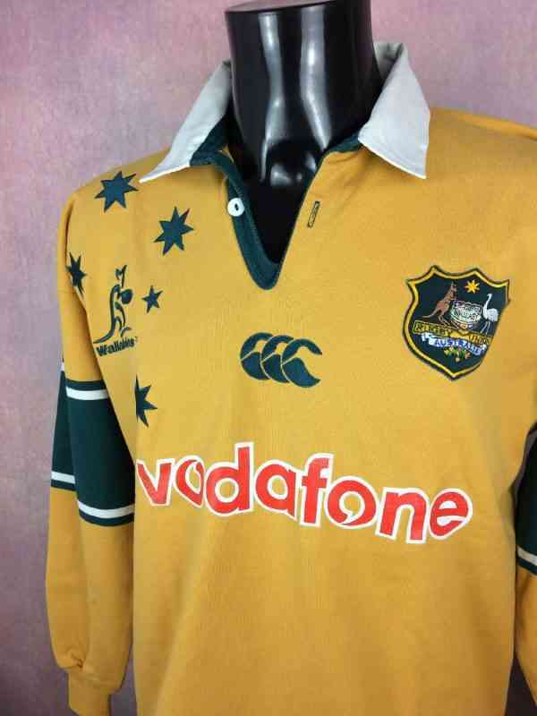 AUSTRALIA Maillot World Cup 2003 Home Canterbury Manches.. 3 - AUSTRALIA Maillot World Cup 2003 Home Canterbury Manches Longues Wallabies XV Rugby