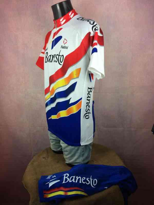 BANESTO Team Maillot Cuissard 1997 Nalini Campagnolo.. 3 - BANESTO Team Maillot + Cuissard 1997 Nalini Campagnolo Vintage 90s Made in Italy Tour de France Cyclisme