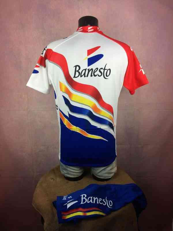 BANESTO Team Maillot Cuissard 1997 Nalini Campagnolo.. 4 - BANESTO Team Maillot + Cuissard 1997 Nalini Campagnolo Vintage 90s Made in Italy Tour de France Cyclisme