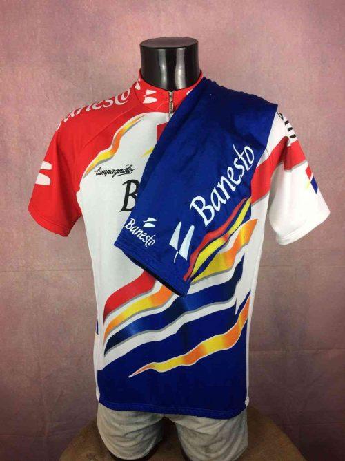 BANESTO Nalini Campagnolo Team Maillot + Cuissard, Saison 1997, Véritable Vintage années 90s, Tour de France, Jersey Cyclisme Eroica