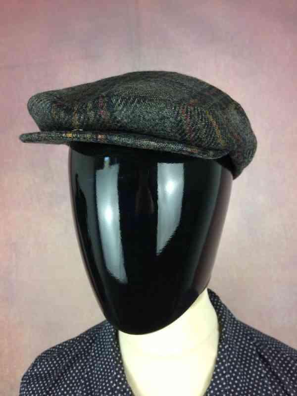 Casquette BENJAMIN, Maison fondée en 1926, Lille, Véritable vintage années 80s, 100% laine, Cap Gorra Hat Tweed
