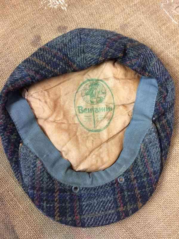 BENJAMIN Casquette Maison fondee en 1926 Lille Vintage 5 rotated - BENJAMIN Casquette Maison fondée en 1926 Lille Vintage années 80s 100% laine Tweed