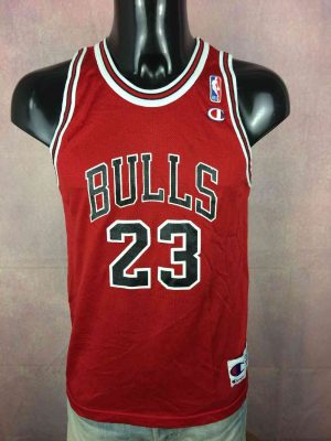 Maillot CHICAGO BULLS, Floqué  Michael JORDAN #23, Saison 1992, Eléments cousus Patch NBA + Ecusson + Etiquette Champion, Made in Costa Rica, USA Jersey Swingman Basketball