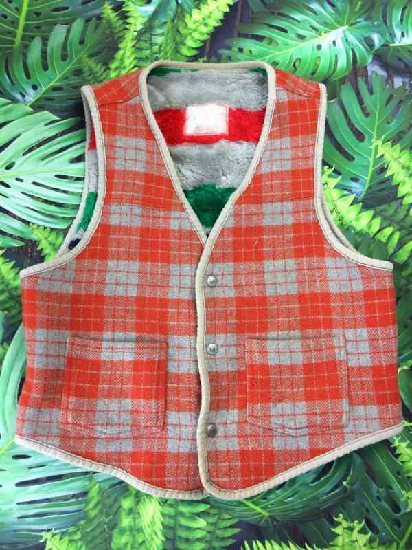 CIMARRON Gilet Vintage Annee 90 Made in Spain 35 laine 1 - CIMARRON Gilet Vintage Année 90 Made in Spain 35% laine Plaid Unisex