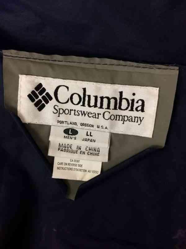 COLUMBIA Impermeable PVC Capuche avec visiere Multiples.. 7 rotated - COLUMBIA Imperméable PVC Capuche avec visière Multiples serrages Aérations multiples protégées Poignets élastiques Marine Veste Unisex