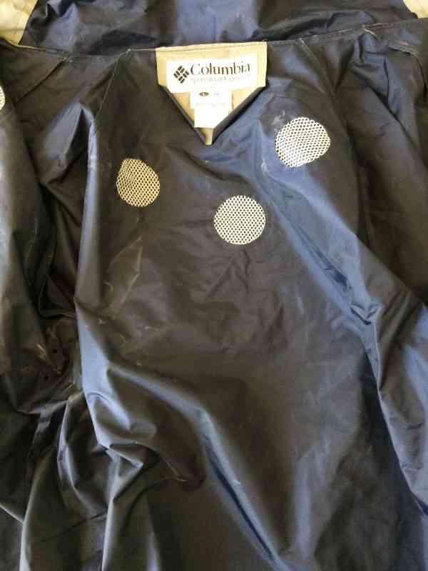 COLUMBIA Impermeable PVC Capuche avec visiere Multiples.. 8 rotated - COLUMBIA Imperméable PVC Capuche avec visière Multiples serrages Aérations multiples protégées Poignets élastiques Marine Veste Unisex