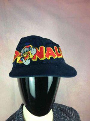 Casquette DONALD, Véritable vintage années 90s, Marque Goofy's Hat Co, Licence Officielle Walt Disney Company, Made in Taiwan, Visuel brodé, Cap Gorra Hat Trucker Snapback