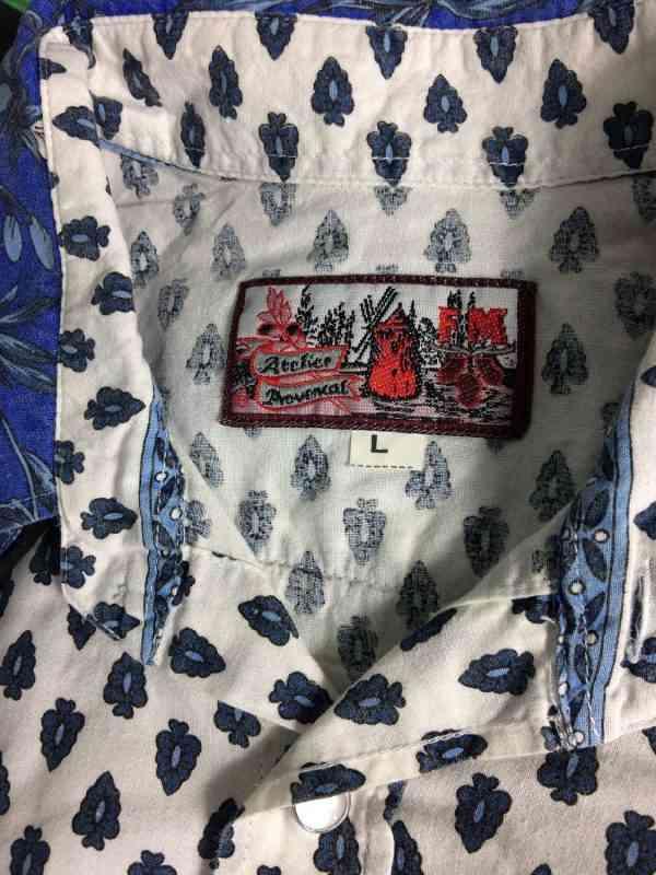 Chemise Provence ATELIER PROVENCAL Indiennes Vintage 1 - Chemise Provence ATELIER PROVENÇAL Indiennes Vintage années 90 Boutons Nacres Gardian Camargue Sud Feria Homme