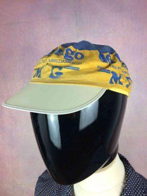Casquette DEL TONGO MG Maglificio Team, Saison 1991, Véritable vintage années 90s, marque Apis, Cap Gorra Hat Giro Eroica Cyclisme