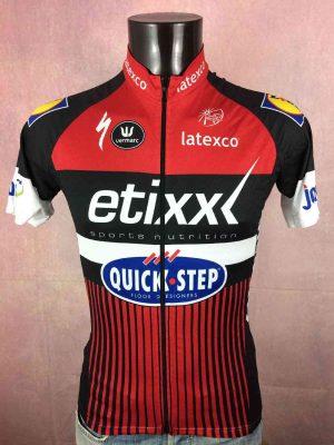 ETIXX QUICK STEP Team Maillot, Edition Rouge, Marque Vermarc, Saison 2016, Logo UCI World Tour, TDF, Sponsors complémentaires Specialized Latexco Peugeot LIDL, Cyclisme
