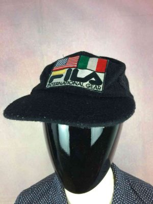Casquette FILA International Gear, Véritable vintage années 90s, Made in Korea, 65% laine, Cap Gorra Hat USA Italie