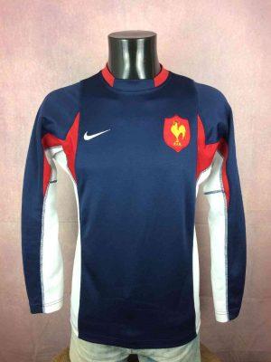 Maillot FRANCE, modèle Training, de marque Nike, Technologie Dri-Fit, Manches longues, Tournoi FFR Quinze XV, Jersey Rugby
