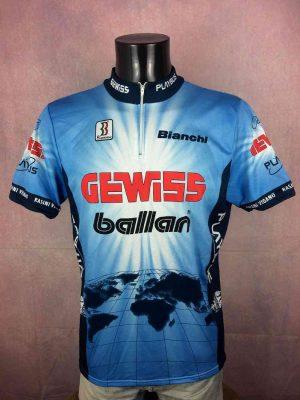 GEWISS BALLAN Team Maillot 1994 1995 Biemme 2 - GEWISS BALLAN Team Maillot 1994 1995 Biemme PlaybusBianchi Tour de France Cyclisme