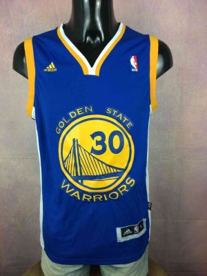 Maillot GOLDEN STATE WARRIORS, Stephen Curry #30, de marque Adidas, Patch NBA, Swingman, USA Jersey Basketball