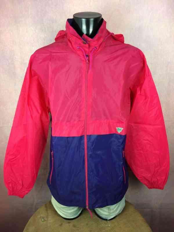 Veste HILLS, Véritable vintage années 90s, en Nylon, avec capuche, se roule en boule et se porte à la taille, Imperméable Rain Jacket K-Way Y2K