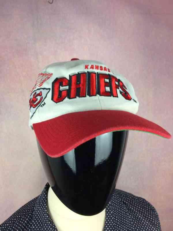 CasquetteKansas City Chiefs, Véritable vintage années 90, marqueSports Specialties, NFL Pro Line Authentic, visuels brodés, 20% laine, Street Cap Gorra Hat Snapback Football Américain
