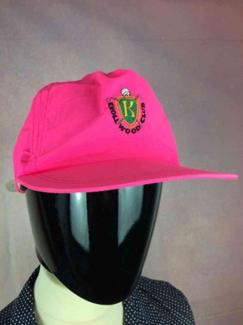 Casquette KNOLLWOOD Club, Véritable vintage années 80s, Marque Colorado Leisure Sports, Made in Denver Colorado USA, Visuel brodé, Fluo, Cap Gorra Hat Trucker Golf