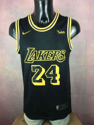 Maillot  LOS ANGELES LAKERS, Eléments cousus Kobe Bryant #24, Swingman, Patch NBA + Nike cousus, de marque Wish, Black Mamba, USA Jersey Basketball