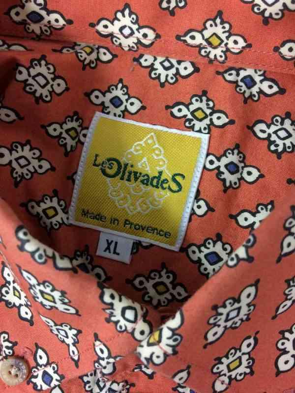 LES OLIVADES Chemise Made in Provence Vintage Annees 00 1 - LES OLIVADES Chemise Made in Provence Vintage Années 00 Rouge Brique Gardian Camargue Sud Feria Homme