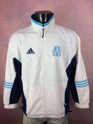 Veste Olympique MARSEILLE, Vintage Année 2000, Official Training Wear, Fabriqué par Adidas et daté du 4/00, doublé intérieur, jacket, football