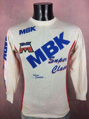 MBKSuper Class Team Maillot, Saison 1986, Marque Racers Concept, Manches longues, Véritable vintage années 80, MX 400 MX 500 BMX Bicross Cyclisme