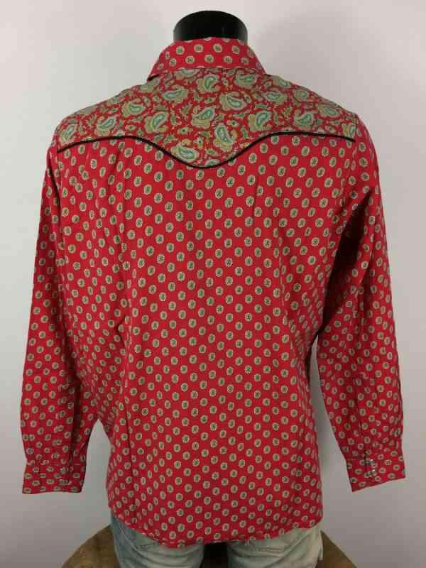 MISTRAL Les Indiennes de Nimes Chemise Provence Rouge 4 - MISTRAL Les Indiennes de Nîmes Chemise Provence Rouge Vintage Années 90 Gardian Camargue Sud Feria Homme