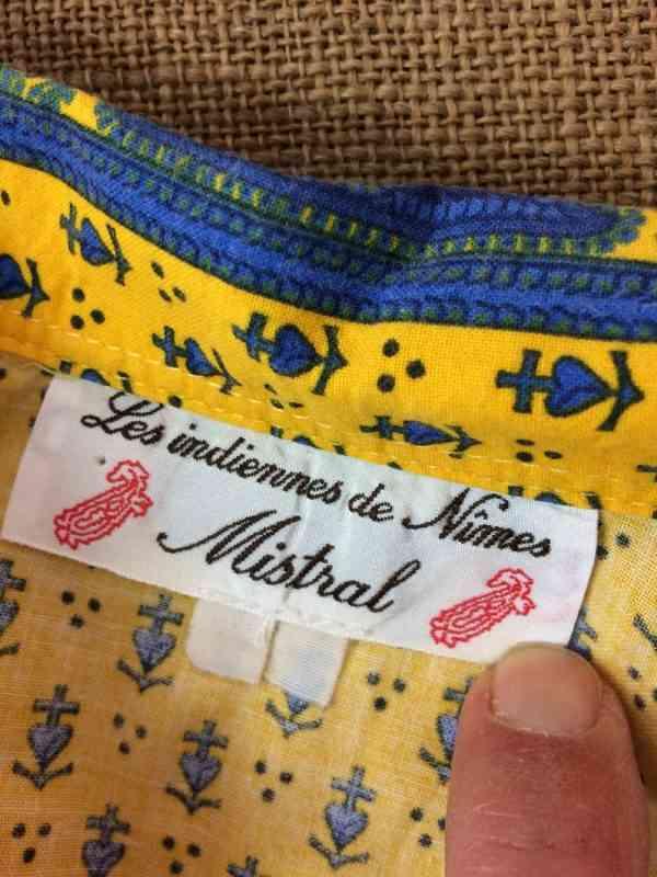MISTRAL Les Indiennes de Nimes Chemise Provence Vintage 1 - MISTRAL Les Indiennes de Nîmes Chemise Provence Vintage Années 90 Gardian Camargue Sud Feria Taille Enfant