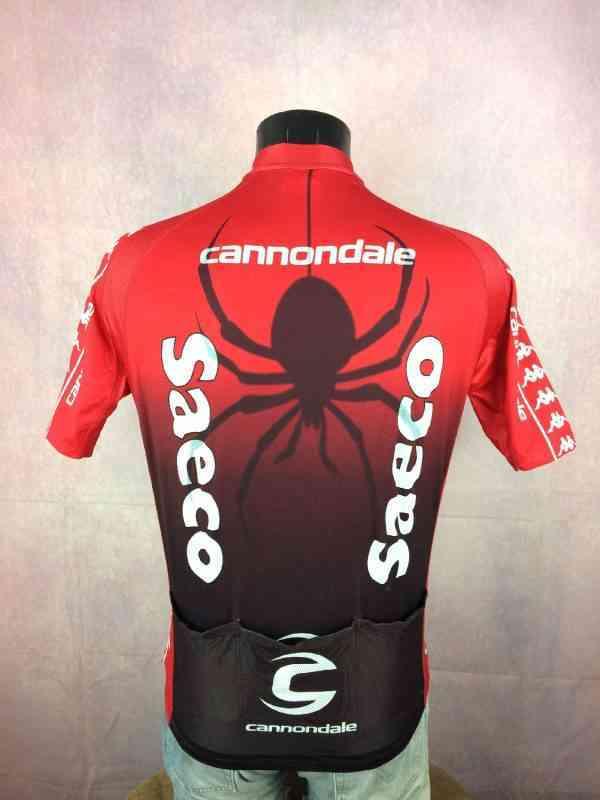 Maillot SAECO CANNONDALE Gilberto Simoni Spider 2004.. 5 - Maillot SAECO CANNONDALE Gilberto Simoni Spider 2004 Ballan Kappa Vintage Pro Team