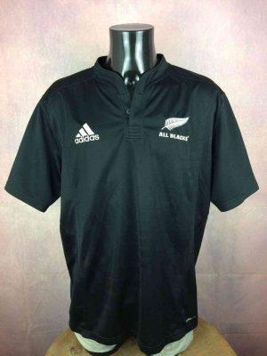 Maillot NEW ZEALAND ALL BLACKS, Saison 2007 2009, modèle Special, de marque Adidas daté du 02/09, Technologie ClimaCool, Quinze XV, Jersey Rugby